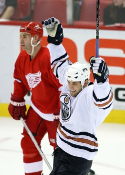 EDMONTON OILERS VS DETROIT RED WINGS