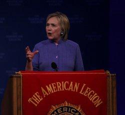 Hillary Clinton speaks at the American Legion National Convention in Cincinnati