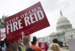 Rally Against Senate Leader Reid in Washington, D.C.