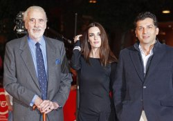 "Christopher Lee and team from ""Triage"" arrive at the opening of the 4th Rome International Film Festival"