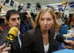 Tzipi Livni votes in Israel