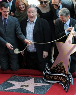 Matt Groening receives a star on the Hollywood Walk of Fame in Los Angeles