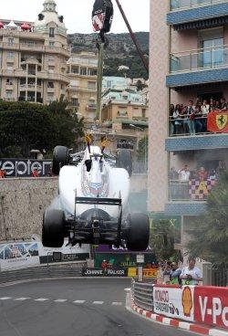 F1 racing during the Monaco Grand Prix