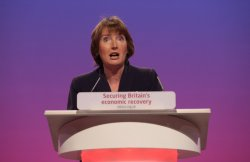 Harriet Harman speaks at the Labour Party Conference 2009.