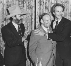 Gene Autry with Viva Records co-owners Snuff Garrett and Clint Eastwood