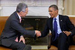 President Obama meets Prime Minister of Singapore