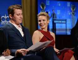 Garrett Hedlund and Kristen Belld announce the nominees for the 75th Golden Globe Awards in Beverly Hills