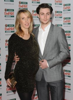 "Sam Taylor-Wood and Aaron Johnson attend ""The Empire Awards"""