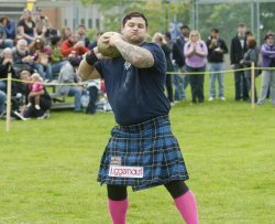 Prince Andrew attends the opening ceremonies for the 150th Victoria Highland Games and Celtic Festival in Victoria