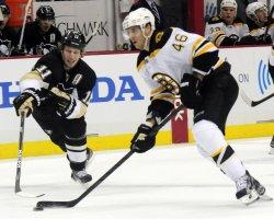 Boston Bruins David Krejci in Pittsburgh