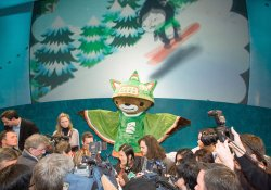 2010 Winter Olympic Mascots unveiled in Surrey near Vancouver