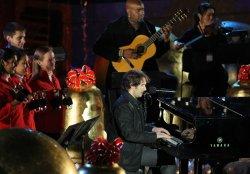 Josh Groban performs at Rockefeller Center Christmas tree lighting ceremony in New York