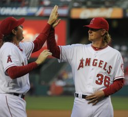 Los Angeles Angels vs Oakland Athletics in Anaheim, California