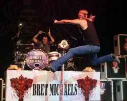 Bret Michaels perform in Hollywood, Florida