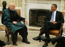 Obama And Afghan President Karzai Hold Bilateral Meeting At White House
