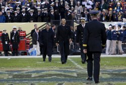 President Obama attends the 112th Army Navy game in Maryland