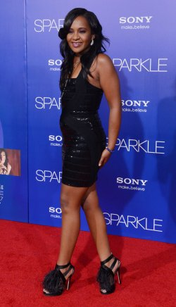 """Bobbi Kristina Brown attends the premiere of """"Sparkle"""" in Los Angeles"""