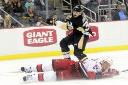 Penguins Jussi Jokinen Scores Goal in Pittsburgh