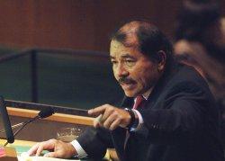 PRESIDENT DANIEL ORTEGA SAAVEDRA OF NICARAGUA ADDRESSES THE UNITED NATIONS GENERAL ASSEMBLY IN NEW YORK