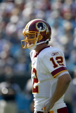 Washington Redskins John Beck during a break in the action as the Redskins play the Carolina Panthers