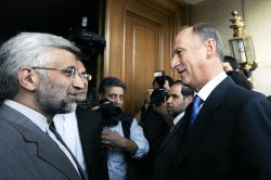 Russia's Security Council Secretary Nikolai Patrushev in Tehran, Iran