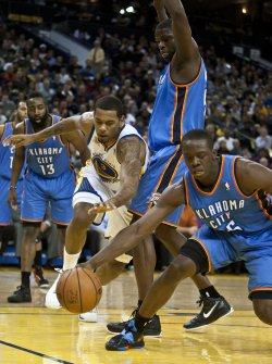 Golden State Warriors vs Oklahoma City Thunder in Oakland, California