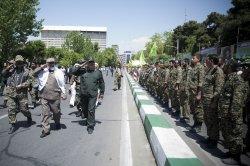 Basij parade in Tehran, Iran