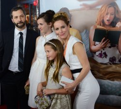 "Judd Apatow and Leslie Mann and their daughters attend the ""This Is 40"" premiere in Los Angeles"