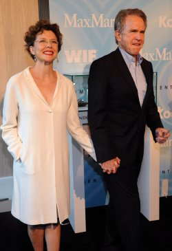 Annette Bening and Warren Beatty arrive at the Crystal + Lucy Awards in Beverly Hills, California