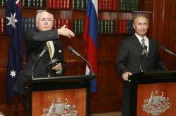 RUSSIAN PRESIDENT PUTIN VISITS AUSTRALIA