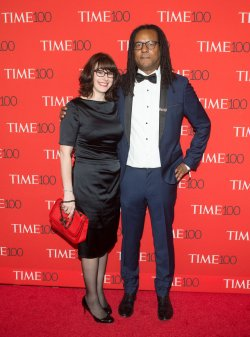 Julie Barer and Colson Whitehead arrive at the TIME 100 Gala in New York