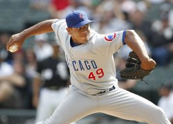 Cubs' Marmol pitches against White Sox in Chicago