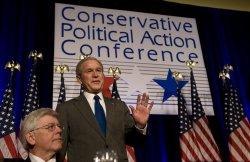 Bush speaks to conservative conference in Washington
