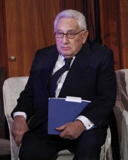 Henry Kissinger speaks at the Freedom Challenge Awards Dinner