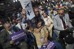 Gunshot victim hugged at the DNC convention in Philadelphia