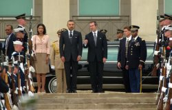 King Mohammed VI at the Pentagon