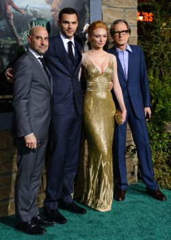 """Stanley Tucci, Nicholas Hoult, Eleanor Tomlinson and Bill Nighy attend """"Jack the Giant Slayer"""" premiere in Los Angeles"""