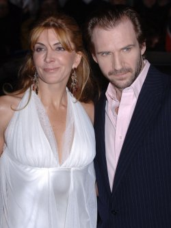 "ACTRESS NATASHA RICHARDSON AND ACTOR RALPH FIENNES AT ""THE WHITE COUNTESS"" BRITISH PREMIERE"