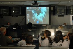 ASTRONAUTS HOLD STUDENT TEACHER CONFERENCE WITH CHILDEN IN ALEXANDRIA