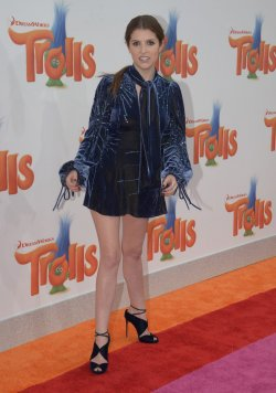 """Anna Kendrick attends the """"Trolls"""" premiere in Los Angeles"""