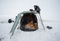 Expedition 38 Soyuz TMA-10M Landing in Kazakhstan