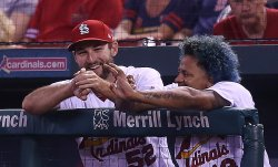 St. Louis Cardinals starting pitchers Martinez and Wacha