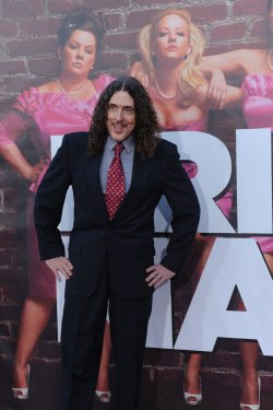 "Weird Al Yankovic attends the ""Bridesmaids"" premiere in Los Angeles"