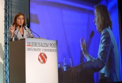 Israeli Justice Minister Tzipi Livni Speaks At Conference
