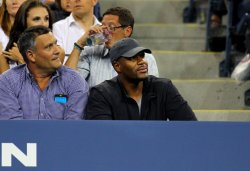 Michael Strahan attends the U.S. Open in New York
