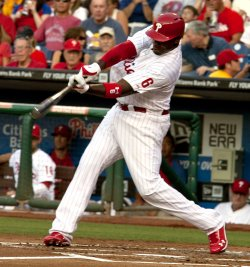 Philadelphia Phillies Ryan Howard at bat at Citizens Bank Park