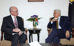 BRITISH CONSUL MEETS MAHMOUD ABBAS
