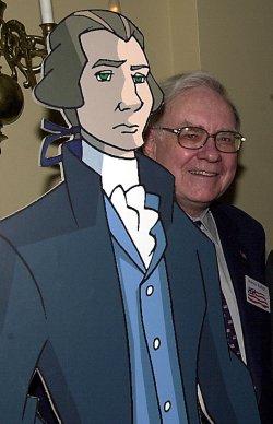 "Warren Buffet and Walter Cronkite star in animated tv series""Liberty's Kids"""