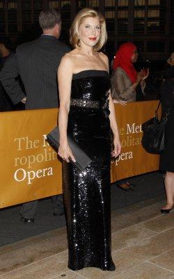 Christine Baranski arrives for the Metropolitan Opera Season Opening in New York