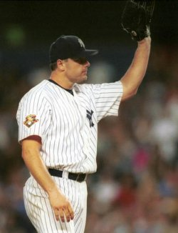 Yankee Roger Clemens Passes Tom Seaver's Strikeout Record